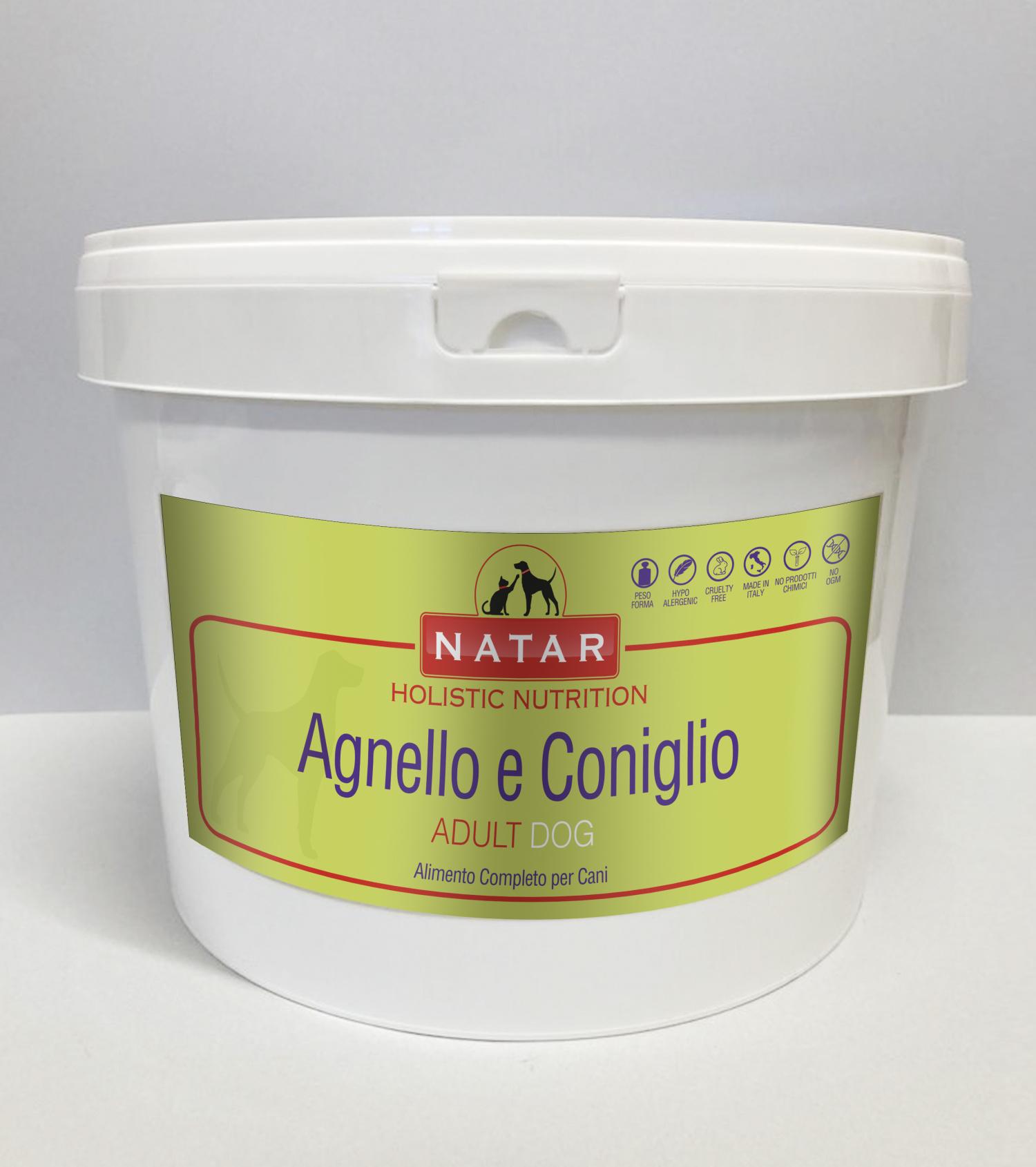 Cibo olistico per cani adulti a base di Agnello e Coniglio