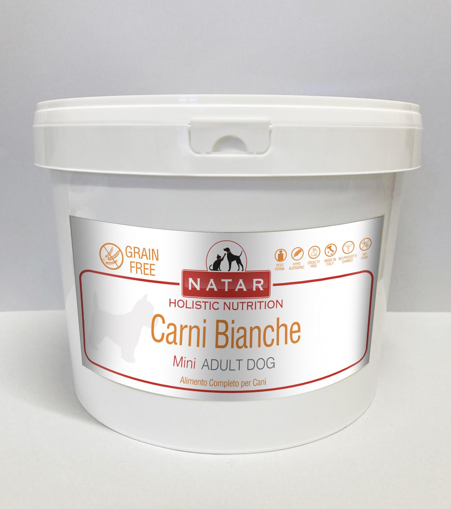 Cibo olistico per cani adulti a base di carni bianche con crocchette specifiche per cani di piccola taglia