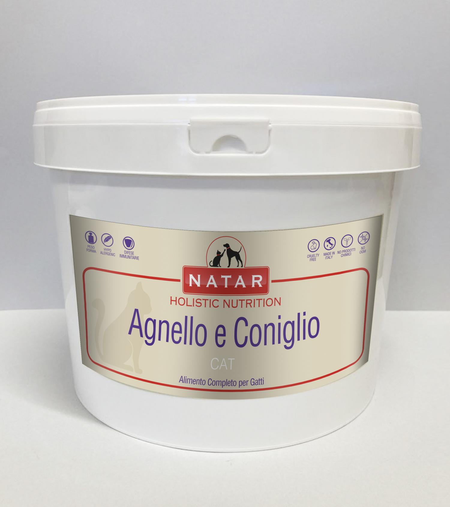 Cibo olistico per gatti a base di Agnello e Coniglio