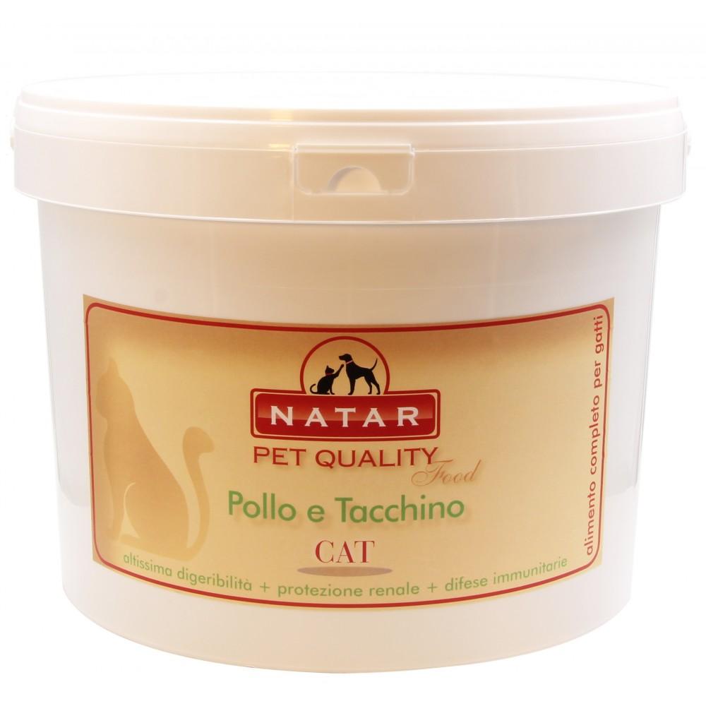 Alimento Natar per gatti Pollo e Tacchino