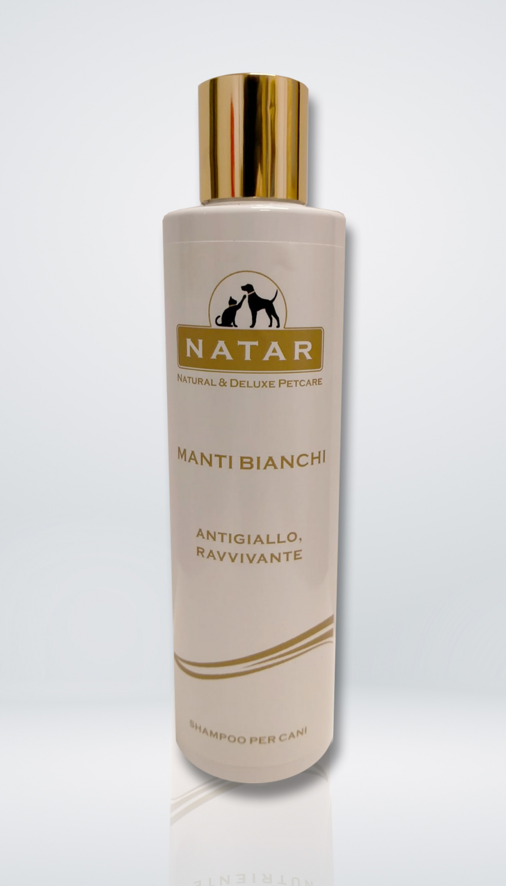Natar Shampoo for dogs with white fur