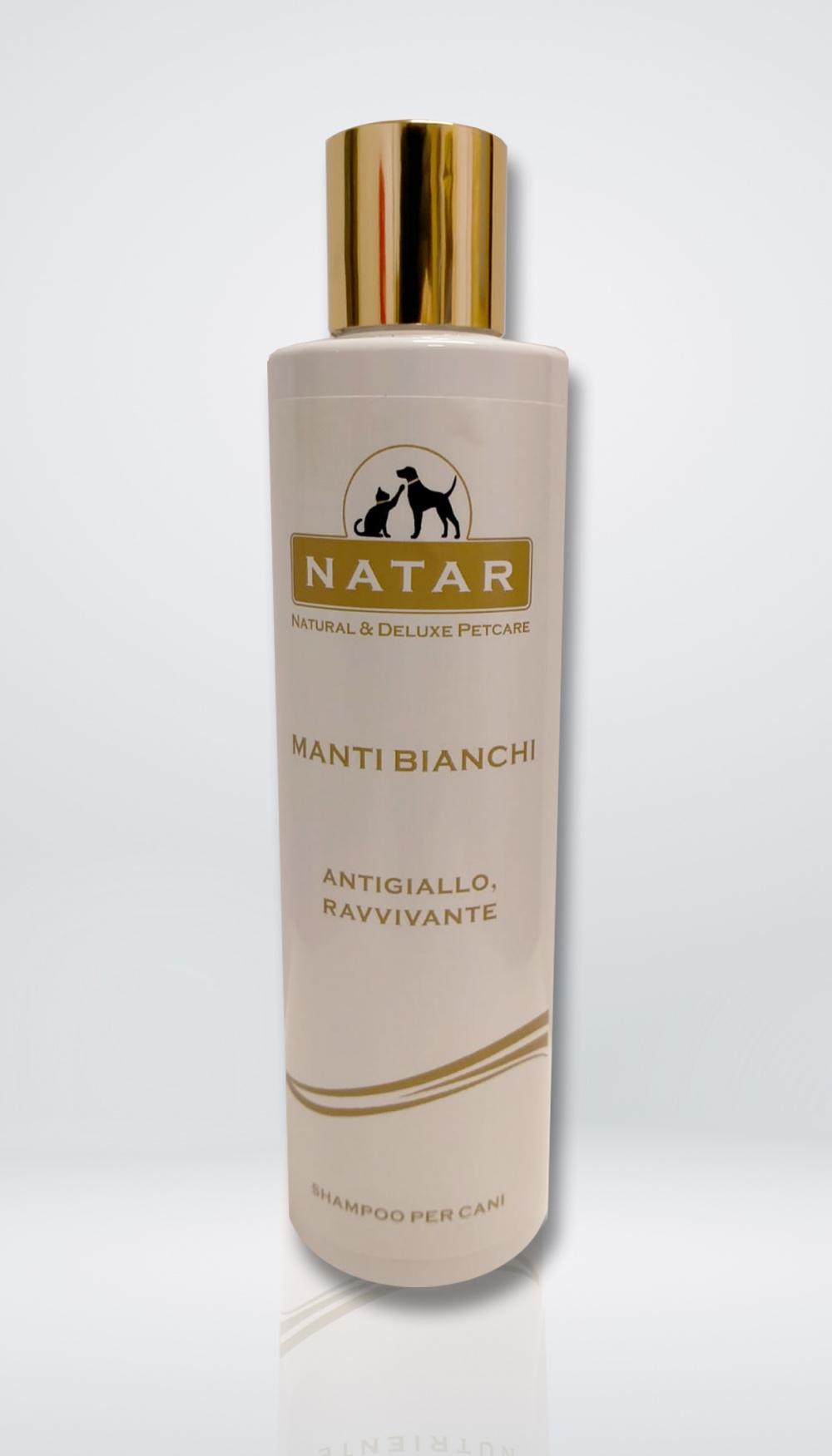 Natar Shampoo per cani con manti bianchi