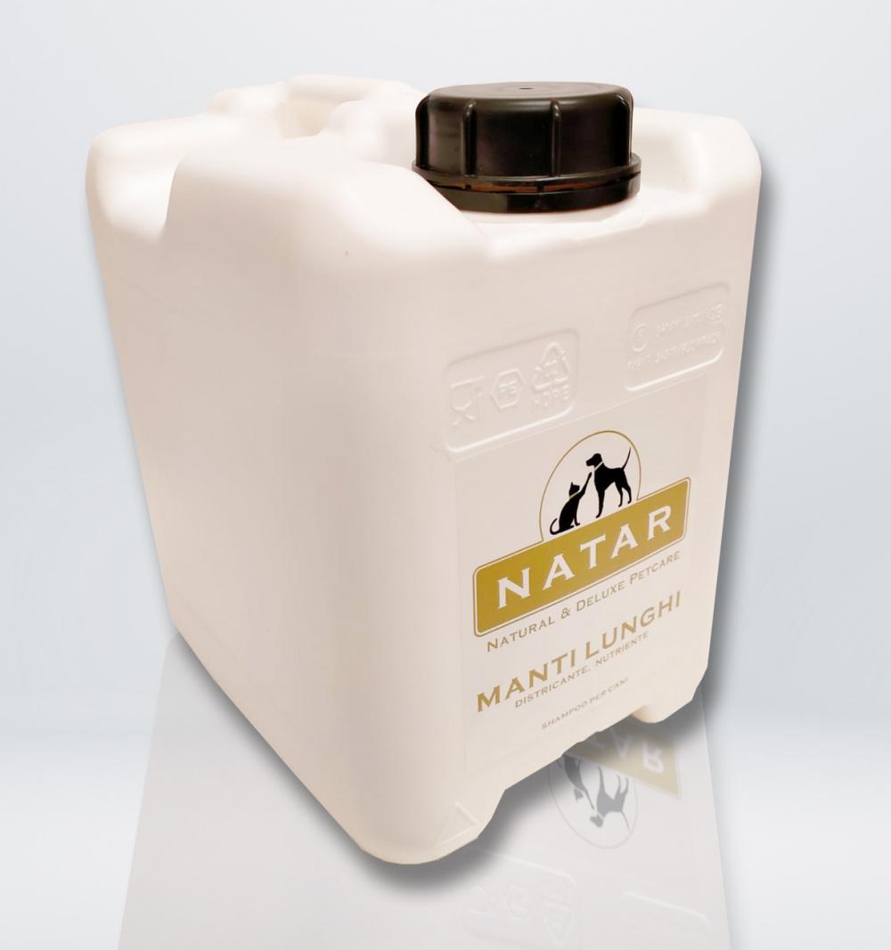 Natar Shampoo per Cani Manti Lunghi tanica 5 L