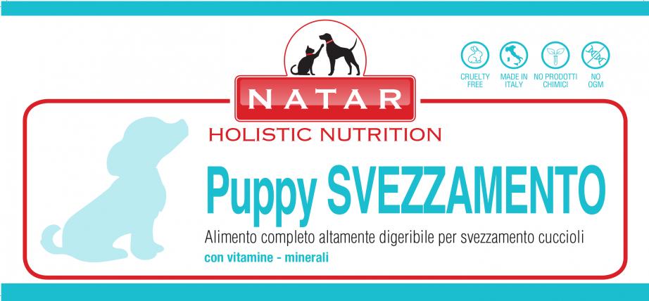 Natar Puppy Svezzamento, alimento sostitutivo del latte materno per lo svezzamento dei cuccioli